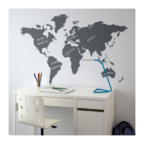 Kltta decorative stickers ikea this world map is both a decorative kltta decorative stickers ikea this world map is both a decorative picture and a handy blackboard gumiabroncs Choice Image