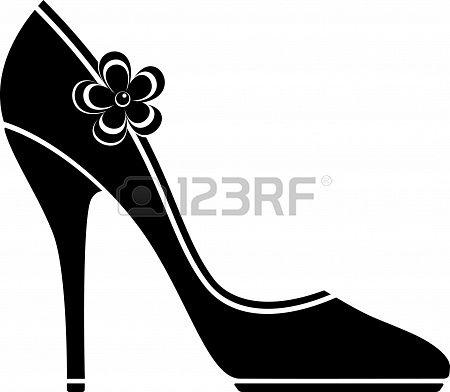 81098c4761 Zapatos de tacón alto (silueta) en blanco. Foto de archivo - 18672122