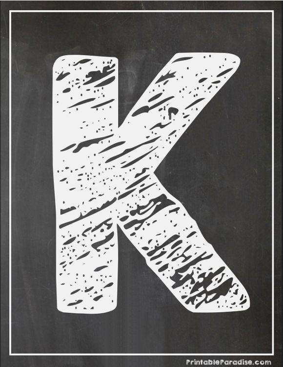 image regarding Printable Chalkboard Letters identify Printable Letter K Chalkboard Composing Printable Chalkboard