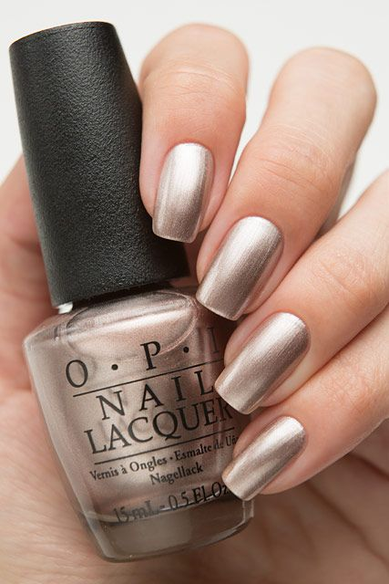 OPI Starlight HRG47 Press * for Silver   nail polish in 2019   Opi ...