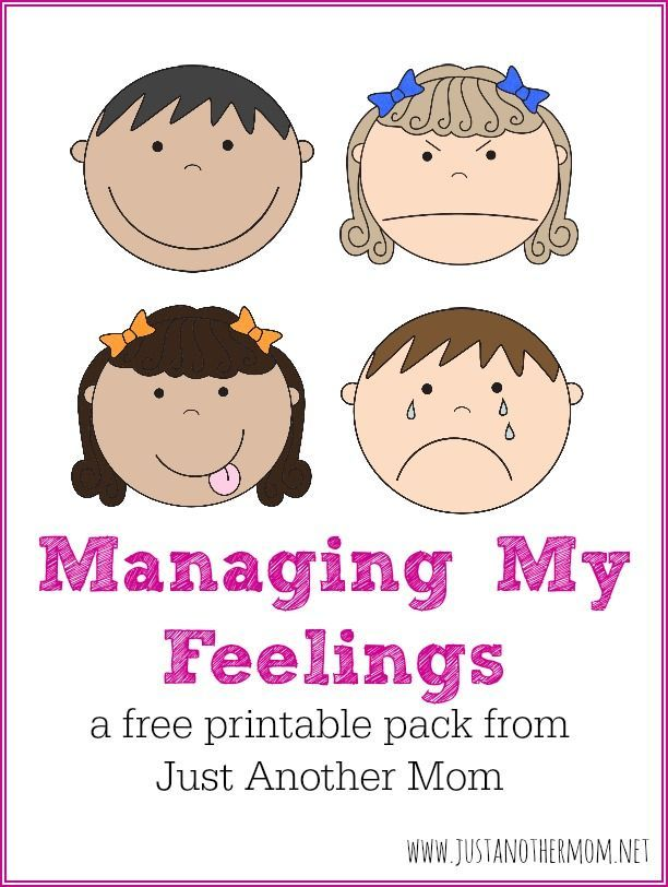 managing my feelings a free printable pack for children with autism - Children Printables