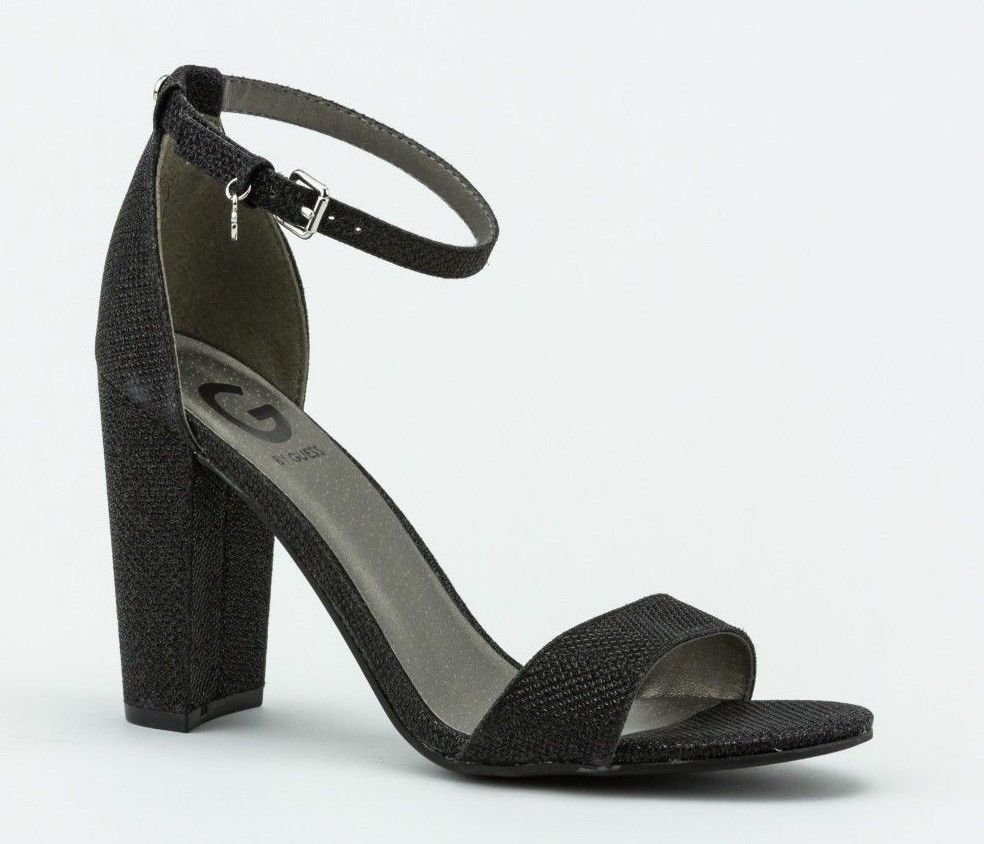 Black chunky heels by Guess