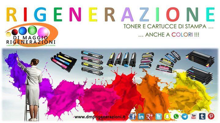 Rigeneriamo anche i toner a colori... http://ift.tt/1Bu9BBe