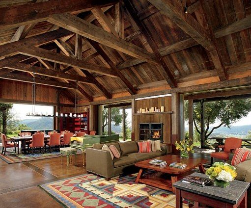 A Northern California Home Adds Rustic Flair to a Private Winery #polebarnhouses
