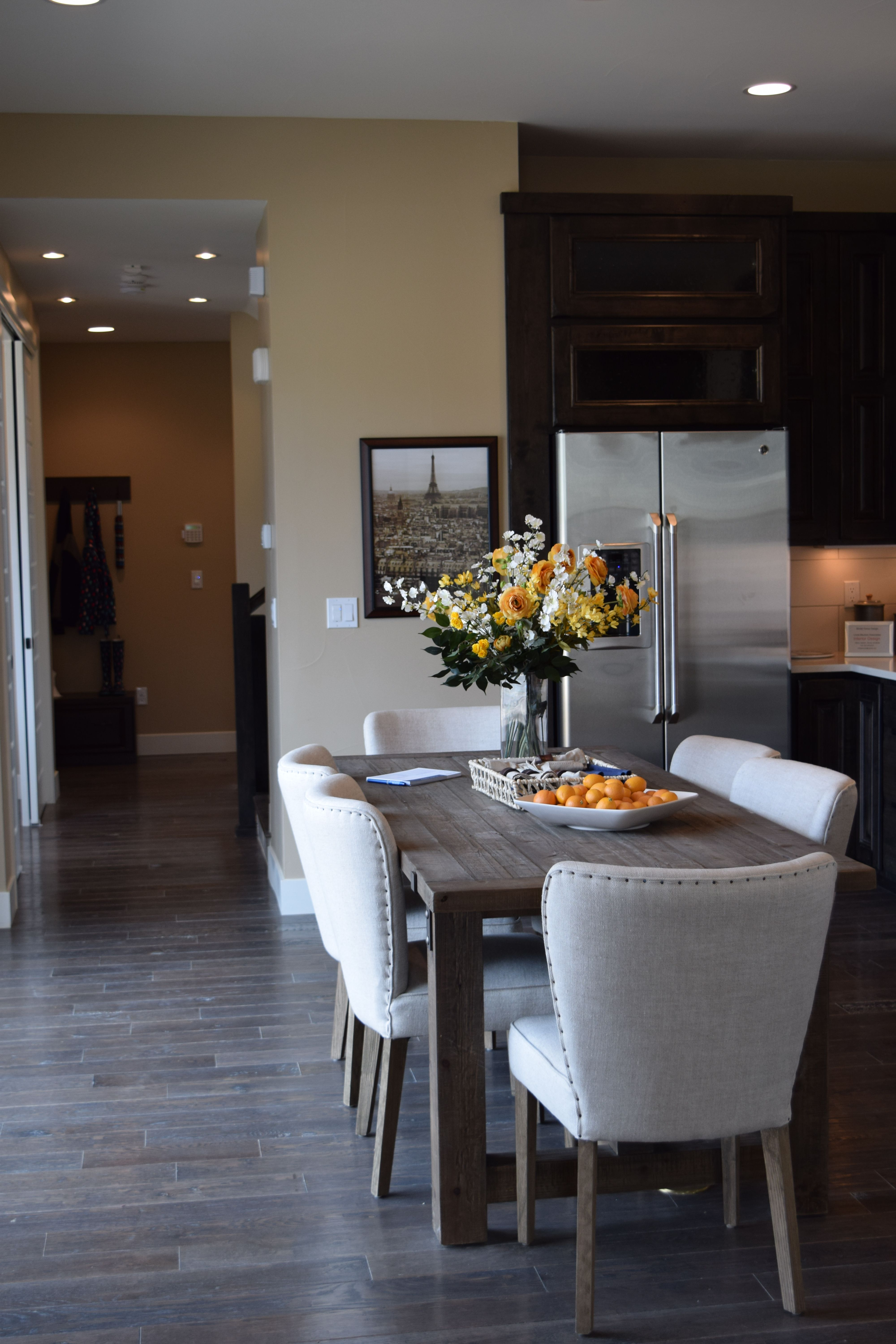 A closer kitchen view of the Brookfield model home where