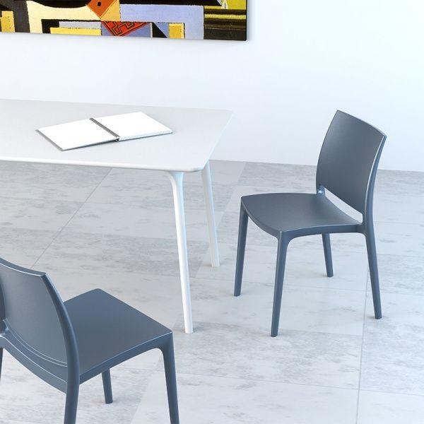 Chaise En Plastique Polypropylene Maya Chaise Plastique Chaise Cuisine Chaise