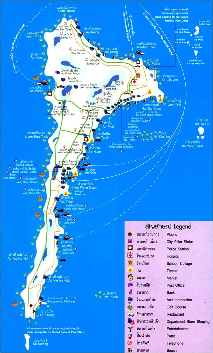 Koh Samet Map