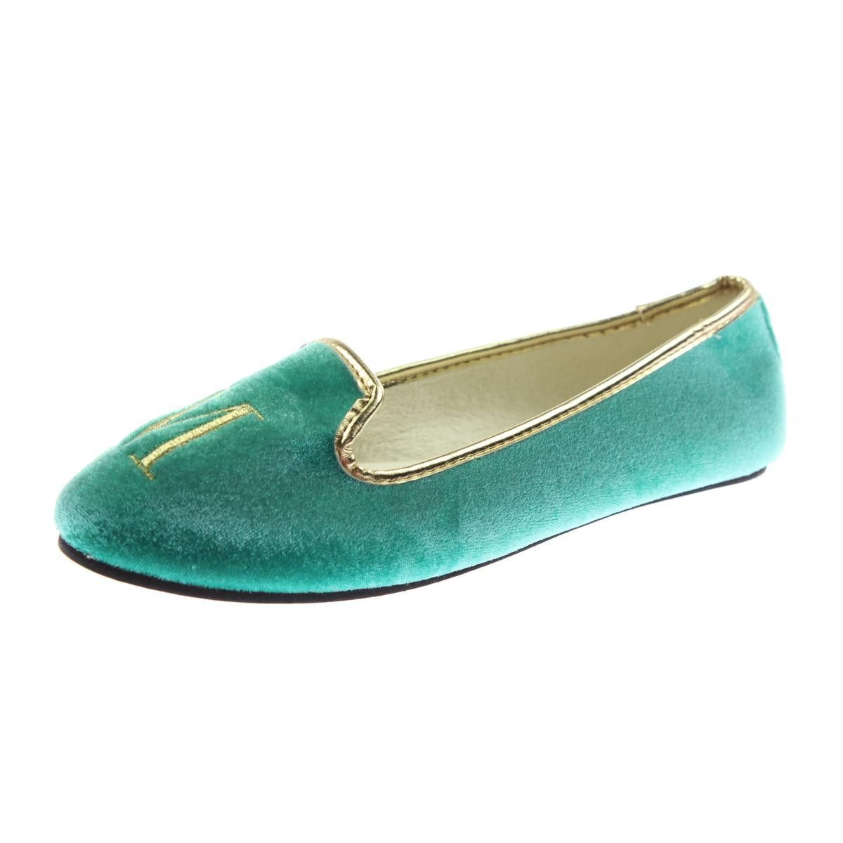 Isaac Mizrahi Womens Baker Round Toe Embroidered Smoking Loafers