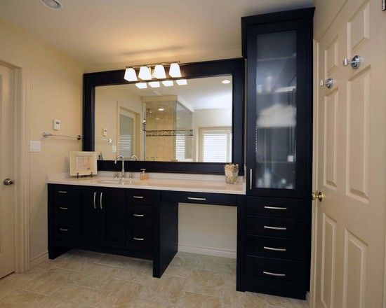 Make Up Vanity Design Ideas Pictures Remodel And Decor Bathroom With Makeup Vanity Bathroom Sink Vanity Trendy Bathroom