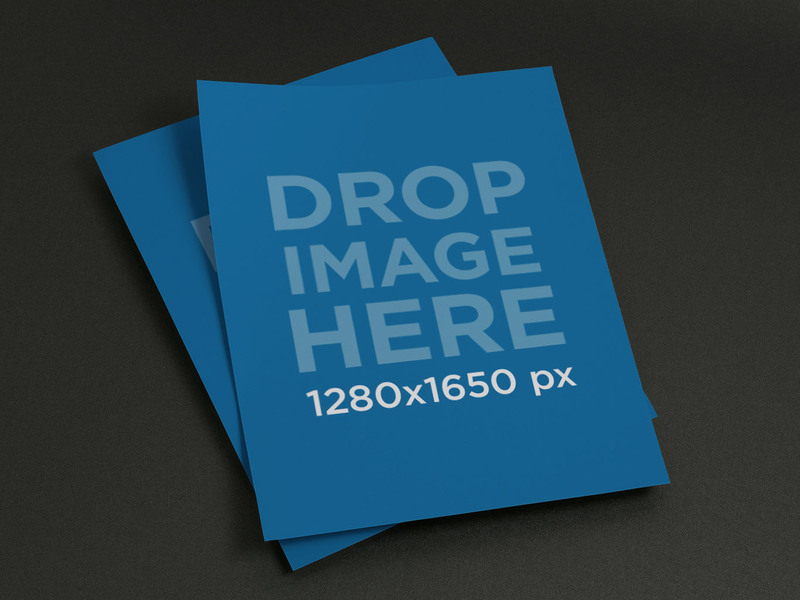 New Mockup Template Of A Set Of Flyers Try It Here Https
