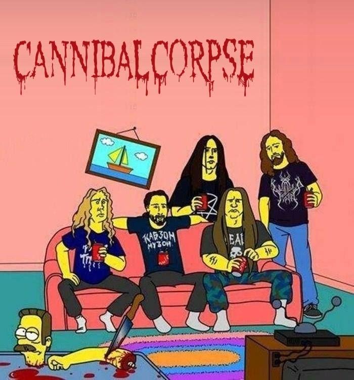 Resultado de imagem para cannibal corpse band caricature