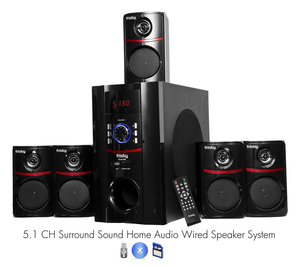 Frisby fs bt watt bluetooth surround sound home theater speaker system also rh pinterest