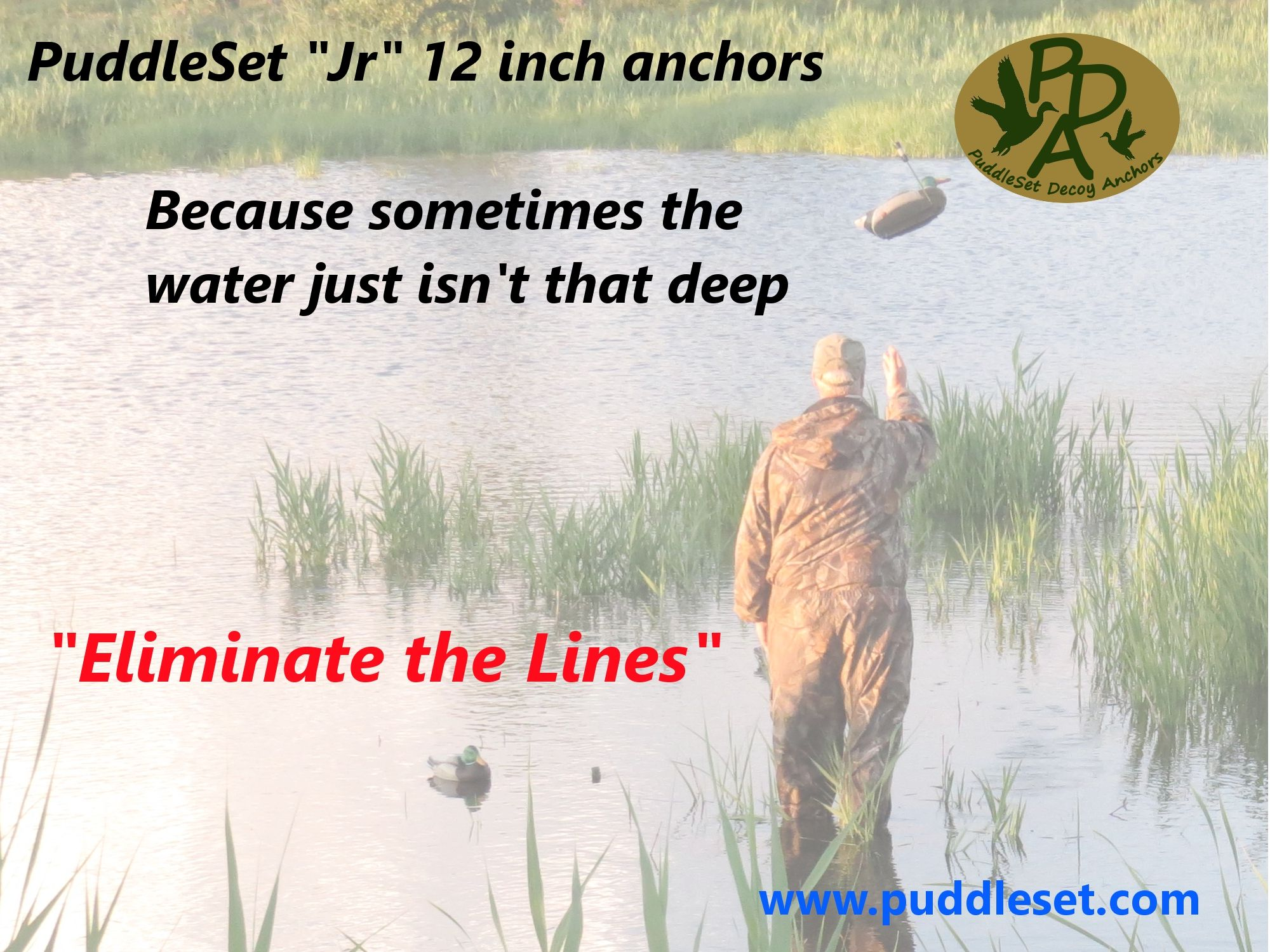 Anchor decoys easier in shallow water then ever before