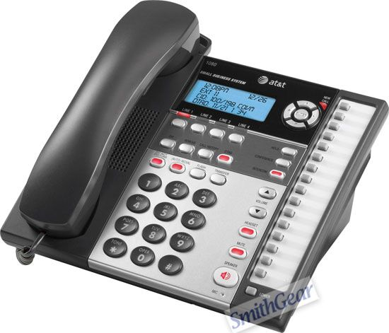 AT/&T 1080 Caller ID 4-Line Speakerphone Corded Business Office Telephone