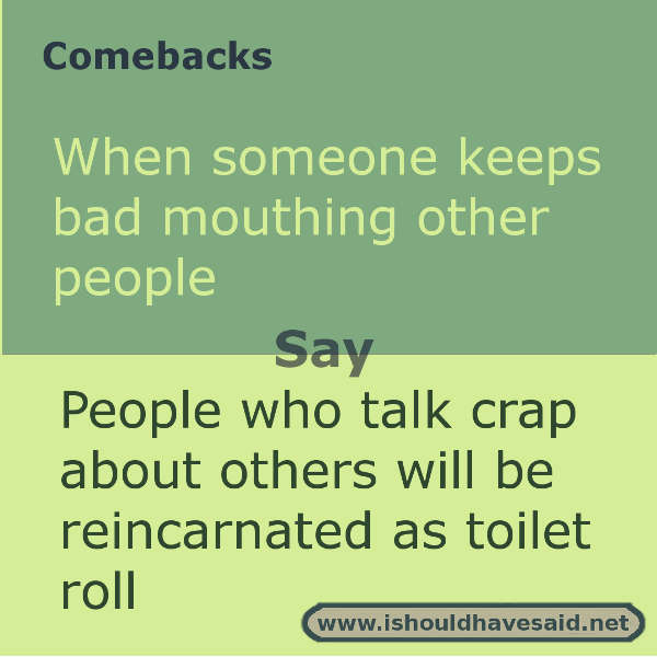 Witty comebacks for any situation