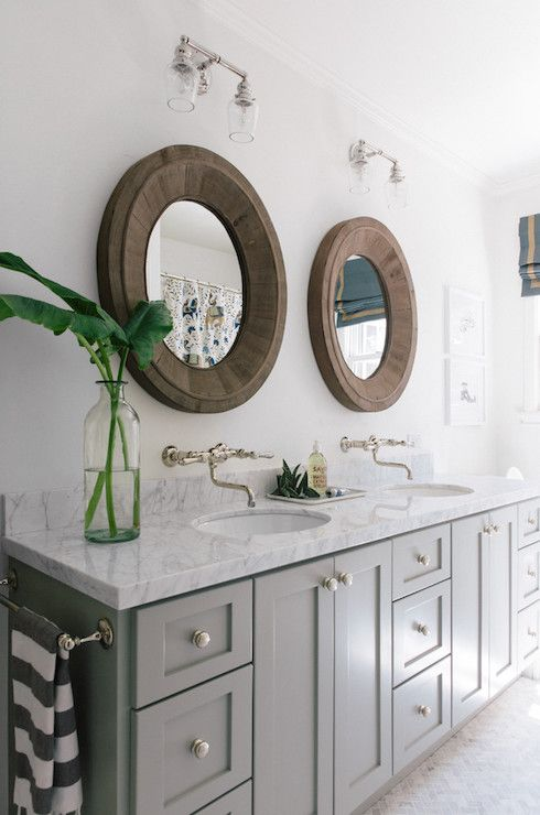 Falls Bathroom Trend Round Mirrors Benjamin Moore Reclaimed - Restoration hardware bathroom mirrors for bathroom decor ideas