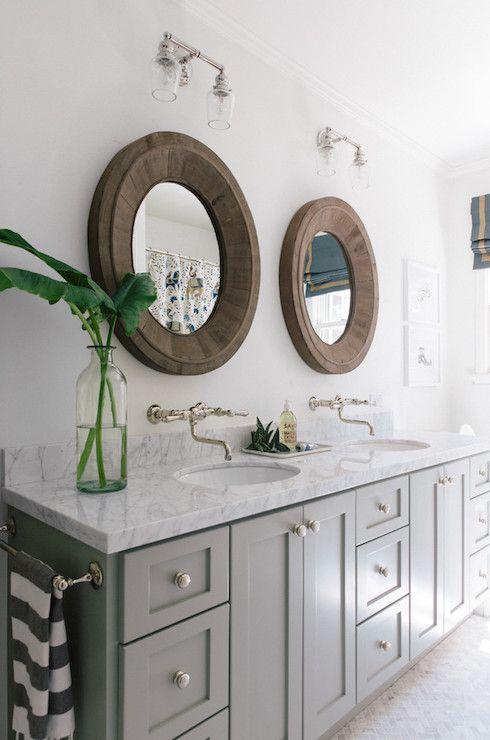 Amanda Teal Design Round Mirror Bathroom Bathroom Design Bathrooms Remodel
