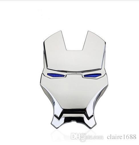 3D IRON MAN Avengers Bumper Stickers Car Auto Metal Decal Emblem Golden Silver