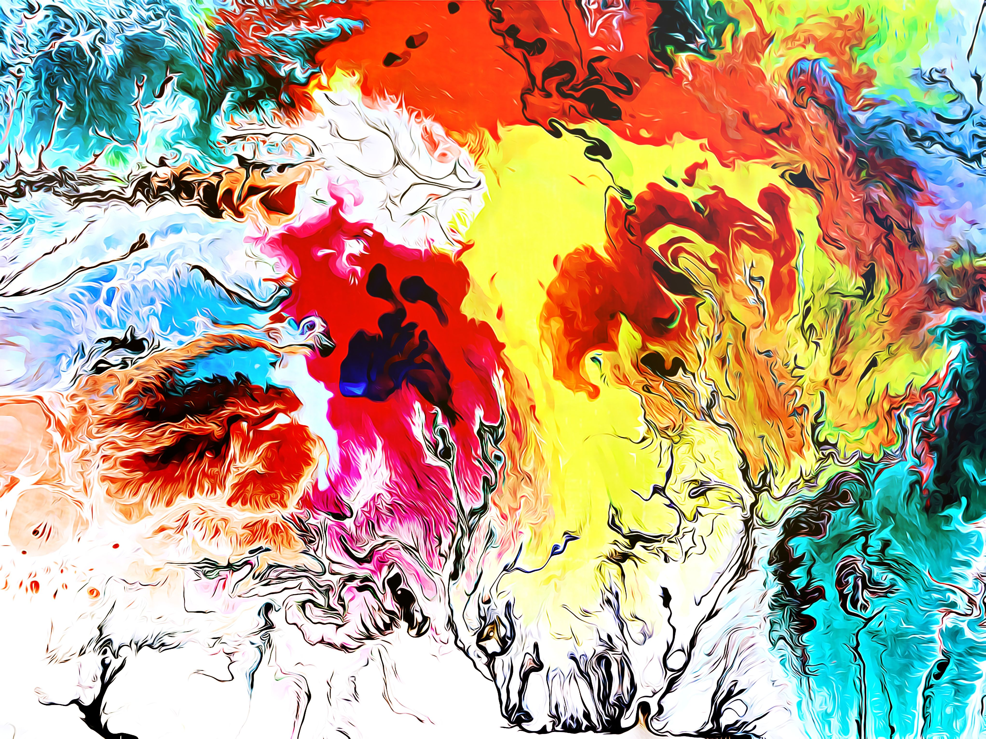 Modern Expressionism Abstract Painting [Acrylic Wall Art