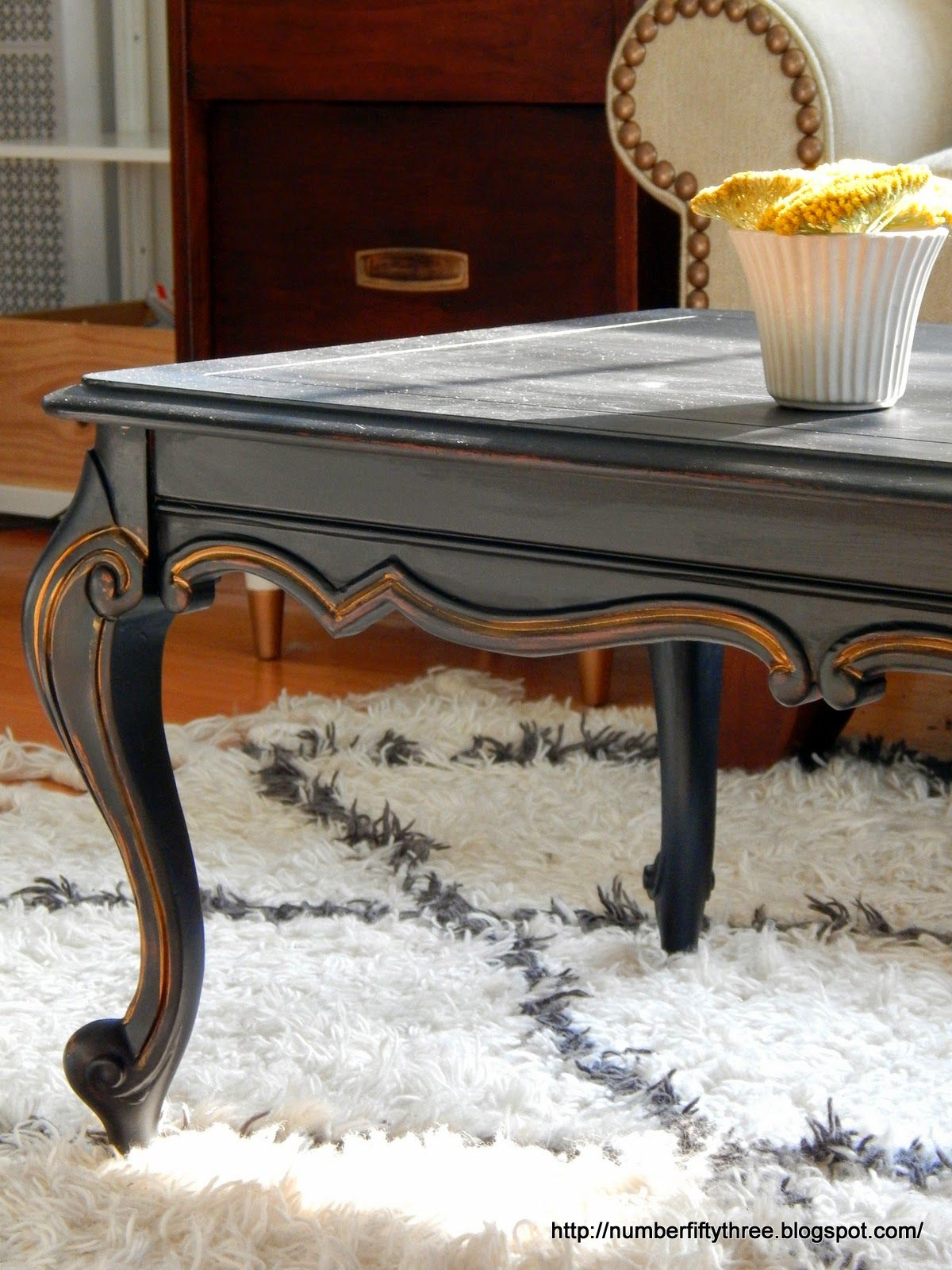 classic black gold coffee table