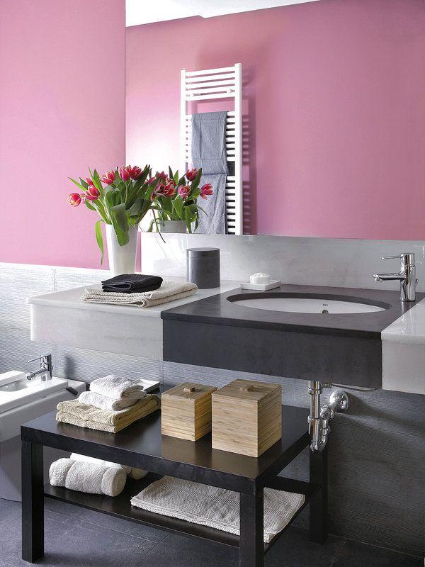 Un Cuarto De Bano Color De Rosa Decoracion De Unas Colores De