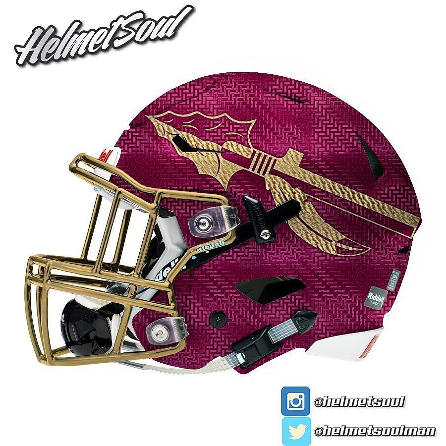 Helmet Soul On Instagram A Metallic Textured Shell And A Matching Mask And Spear Keeping This Design Two Football Helmets Nfl Football Helmets Fsu Football