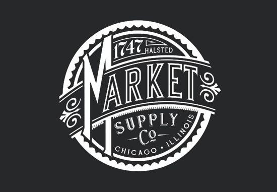 5af059443 market supply co chicago opening vintage logo design | Support Local ...