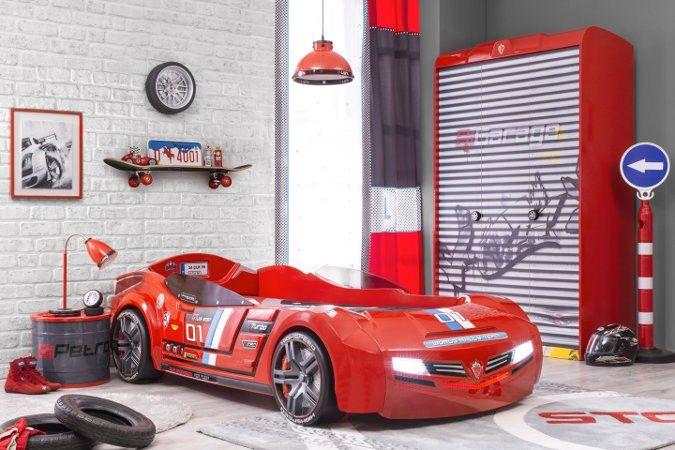 Ensemble Chambre A Coucher Enfant Champion Racer Biturbo Lit