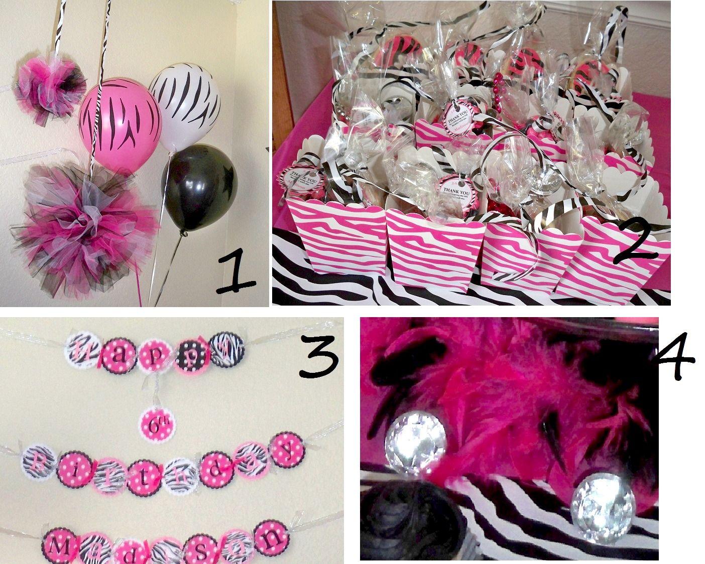Hot Pink Zebra Diva Birthday Party Ideas Diva birthday parties