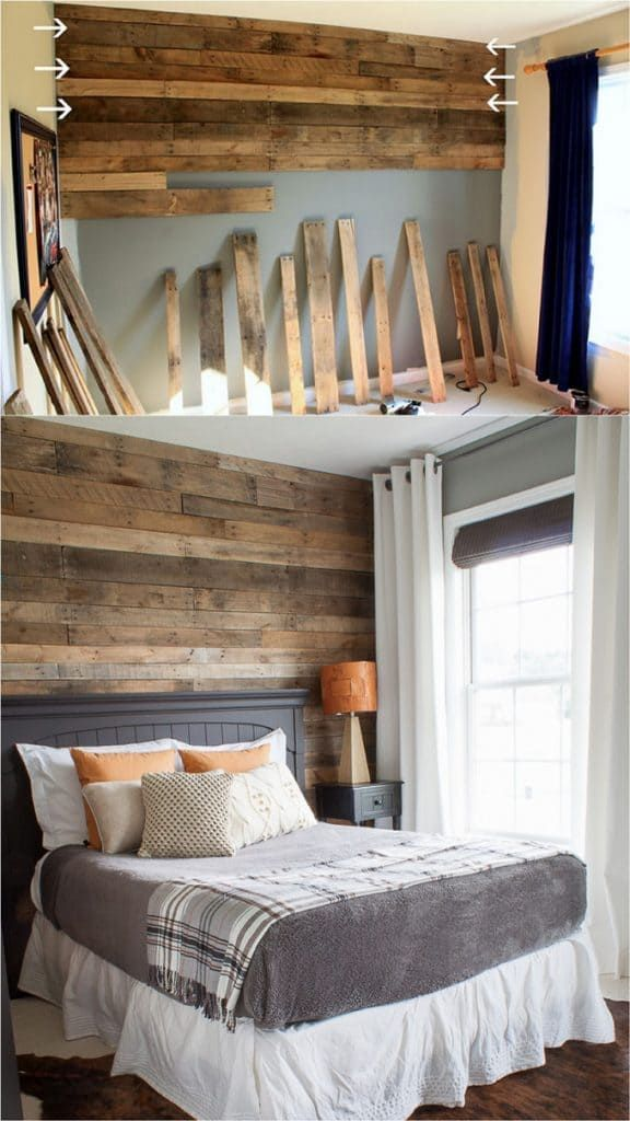 30 Beautiful First Home Decorating Ideas On A Budget: Shiplap Wall And Pallet Wall: 30 Beautiful DIY Wood Wall
