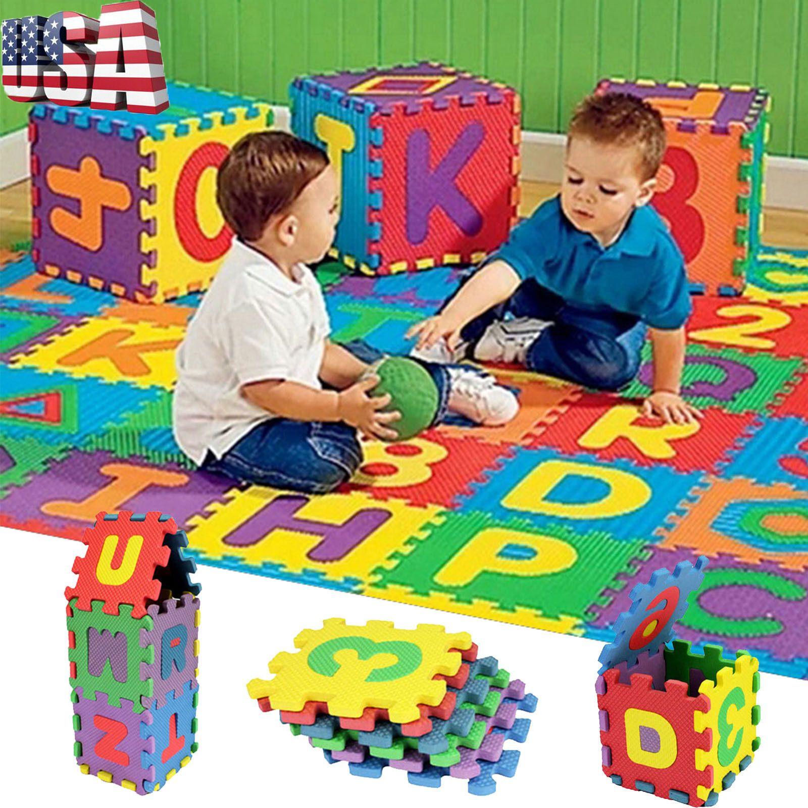 36PCS//Set Alphabet /& Numeral Baby Kids Play Mat Educational Toy Soft Foam Mat