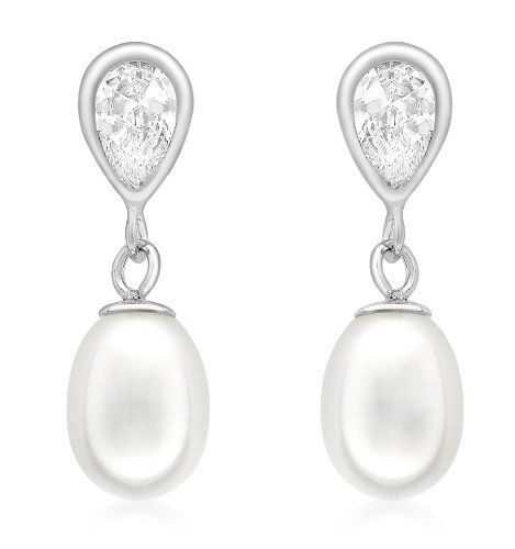 Carissima Gold 9 Ct Cubic Zirconia Teardrop And Pearl Drop Earrings You Can