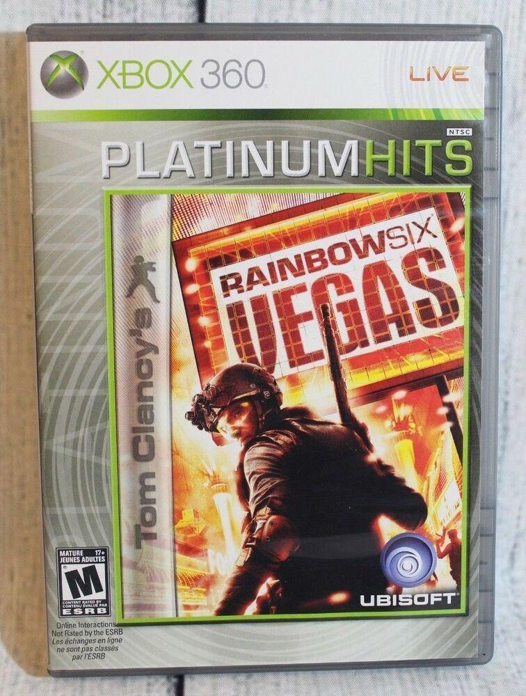 Microsoft Xbox 360 Tom Clancy Rainbow Six Vegas Video Game Platinum Hits Rated M Ubisoft Tom Clancy S Rainbow Six Xbox 360 Xbox