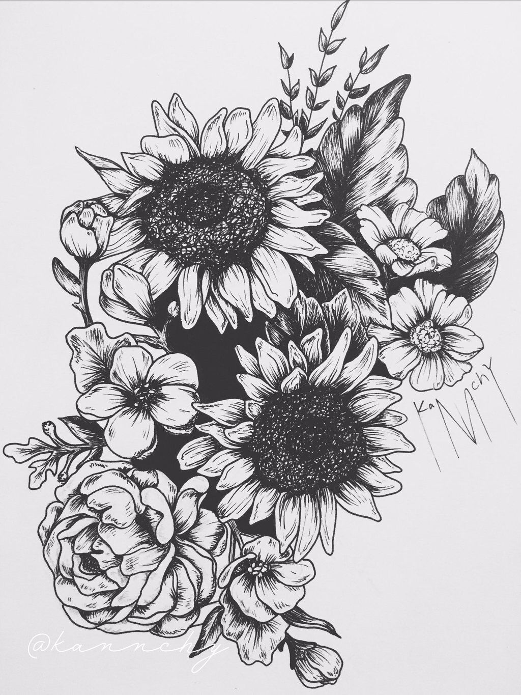 Pin by Hailey Hill on Ink Sunflower tattoos, Sunflower