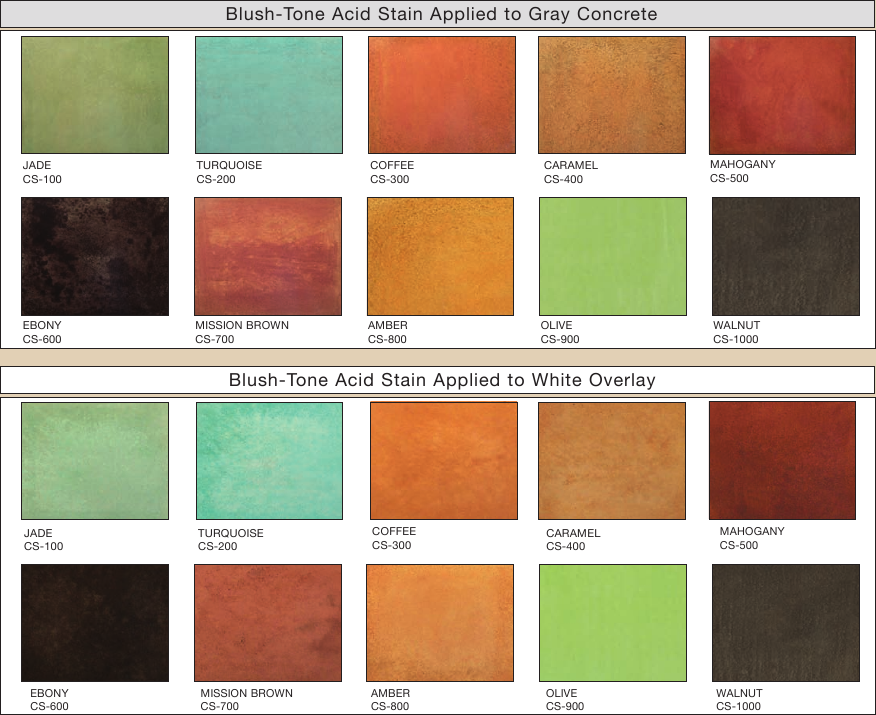 Image result for Brickform Blush-tone acid stain color chart