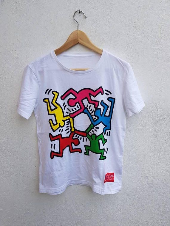 928f729f5 Vintage 90s Colorful Keith Haring X Big Bang Giant People | Unisex ...