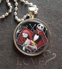"Nightmare Before Christmas Merchandise necklaces   ... SALLY Nightmare Before Christmas Pendant Silver 1"" Jewelry Halloween"