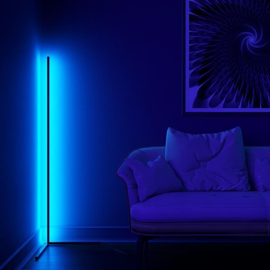 Minimal Lamp Vibrancy Minimalamp In 2020 Corner Floor Lamp Bright Floor Lamp Mood Lamps