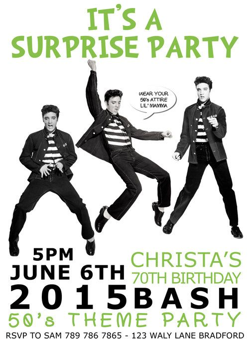 You print elvis presley birthday party hollywood etc invitation you print elvis presley birthday party hollywood etc invitation digital customize can order as well filmwisefo