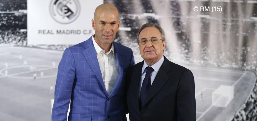 Zinedine Zidane Nuevo Entrenador Del Real Madrid Zinedine Zidane Real Madrid Real Madrid Photos
