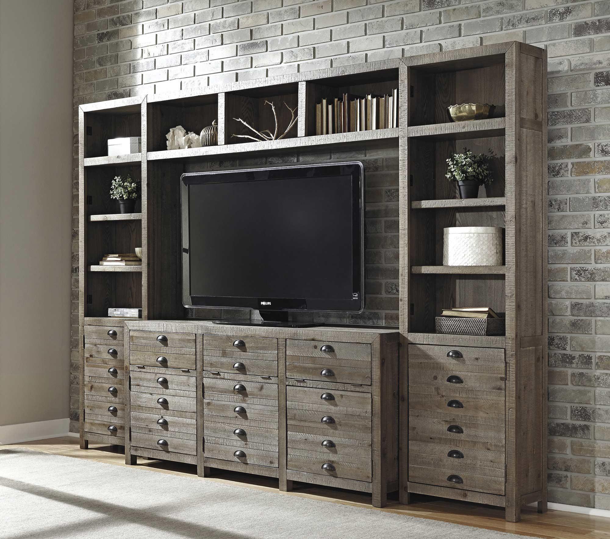 Home Entertainment Furniture Ideas: Keeblen 4-Piece Entertainment Wall