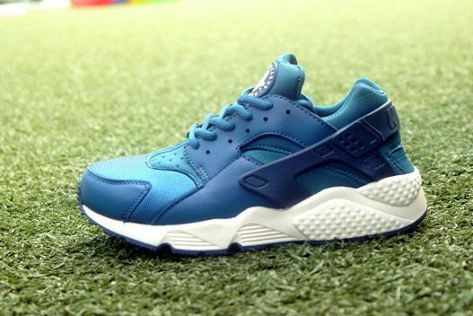 Free Shipping Only 69$ WMNS Nike Air Huarache Blue Force Sail Green Abyss  Turbo Green
