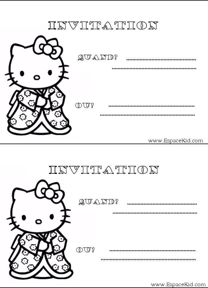 Coloriage carton d 39 invitation hello kitty coloriages carton d 39 invitation anniversaire giulia - Imprimer carton invitation ...