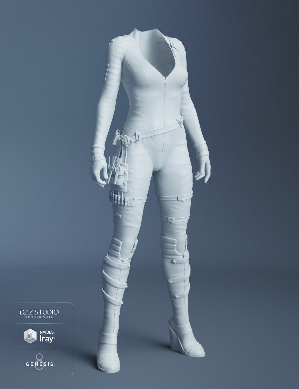 Stealth Siren Outfit for Genesis 8 Female(s) | 3D Models and 3D