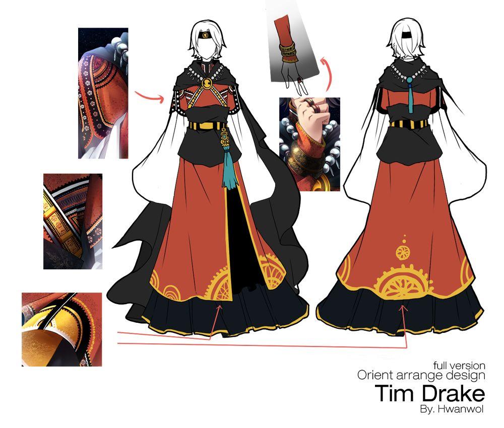Full Body Oriental Style Tim Drake aka Red Robin