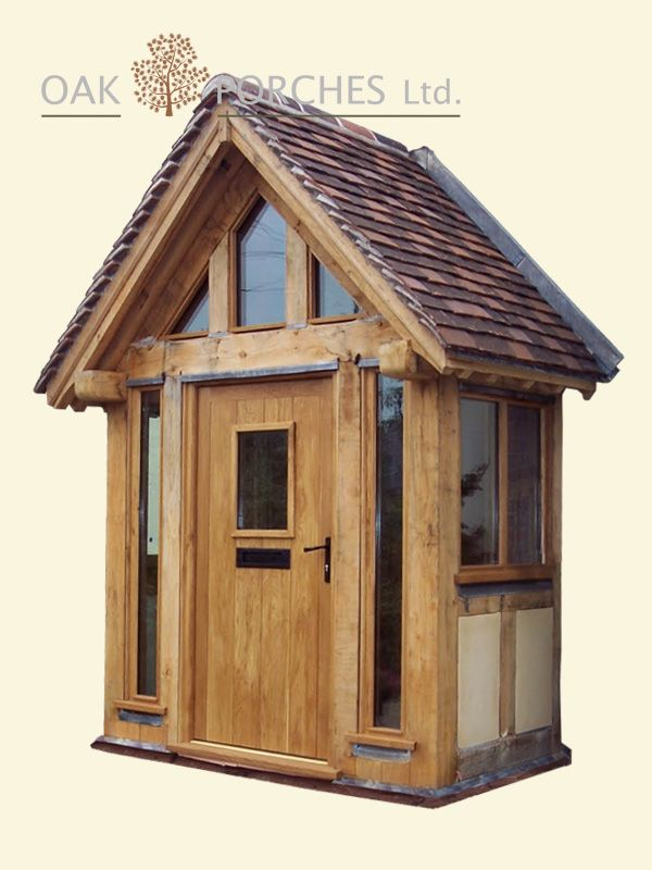 Oak Porches.co.uk ours with slate roof and wider \u2026 & Front Door Portico Ideas | ... Bespoke Oak Doors Stable Doors ... Pezcame.Com