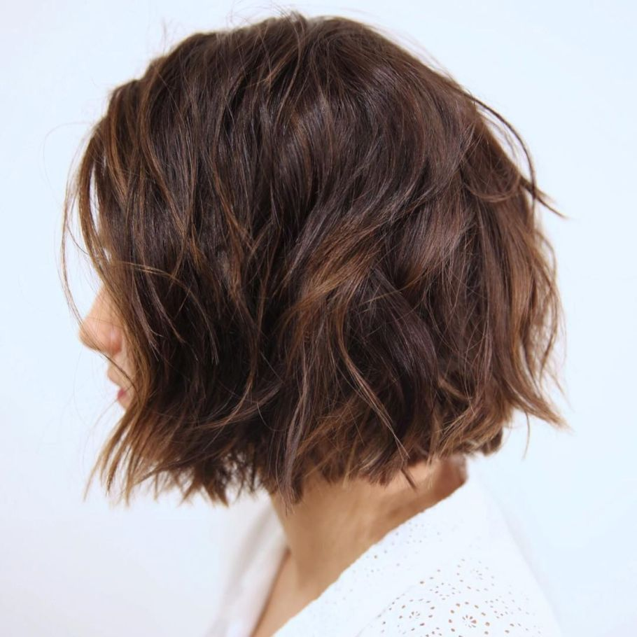 Messy Bob For Thick Coarse Hair Thick Hair Styles Short Hairstyles For Thick Hair Haircut For Thick Hair