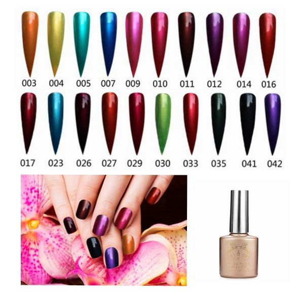 20 Colors Nail Art Metal Color Amber Sky Gel Polish Soak Off UV Gel ...