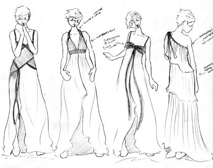 project runway dresses sketches - Google Search | Paper Doll Dress ...
