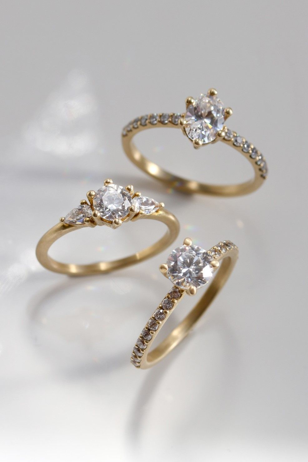 f1ee5bbd74939 New pave band engagement rings, now available on our website ...